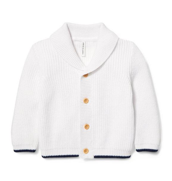 Shawl Collar Wood Button Cardigan