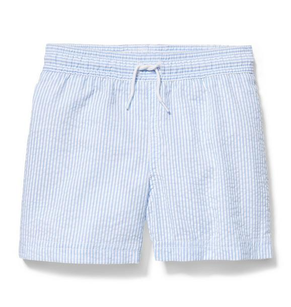 Pull-On Seersucker Swim Short