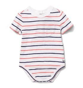 Stripe Slub Pocket Bodysuit
