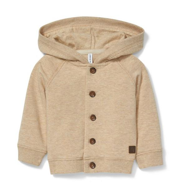 Wood Button Hoodie