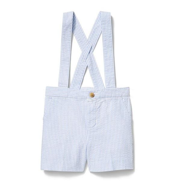 Seersucker Suspender Short