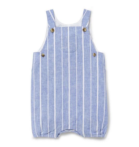 Striped Linen Shortall