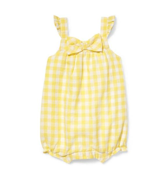 Bow Front Gingham 1-Piece