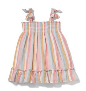 Striped Crinkle Gauze Dress
