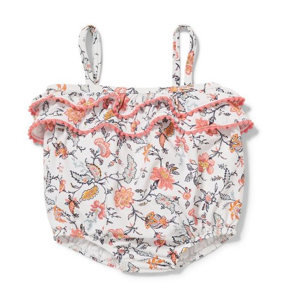 Floral Pom-Pom Swimsuit