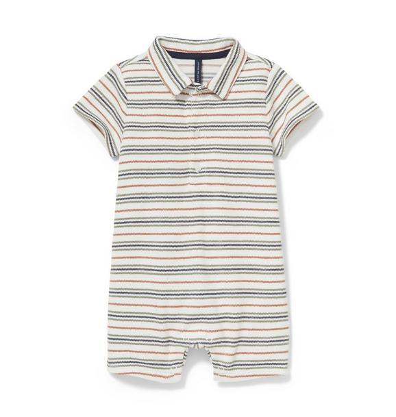 Striped Polo 1-Piece