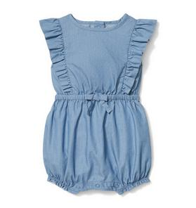 Ruffle Chambray 1-Piece