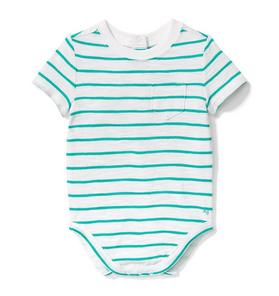 Stripe Slub Pocket Bodysuit