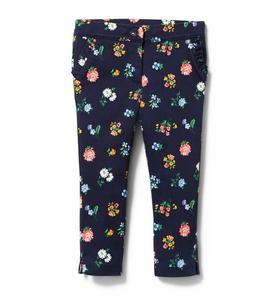 Floral Ruffle Pocket Pant
