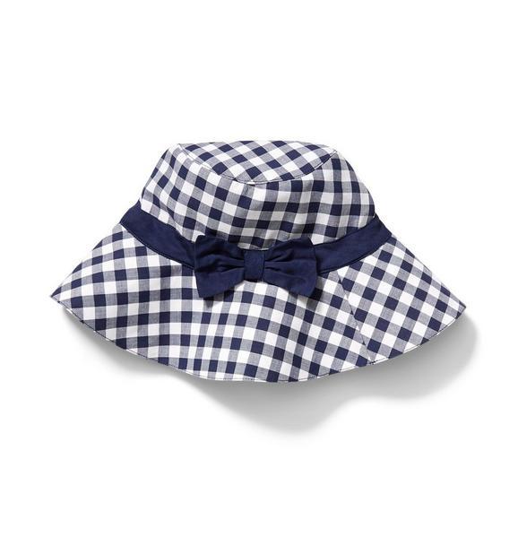 Bow Gingham Bucket Hat