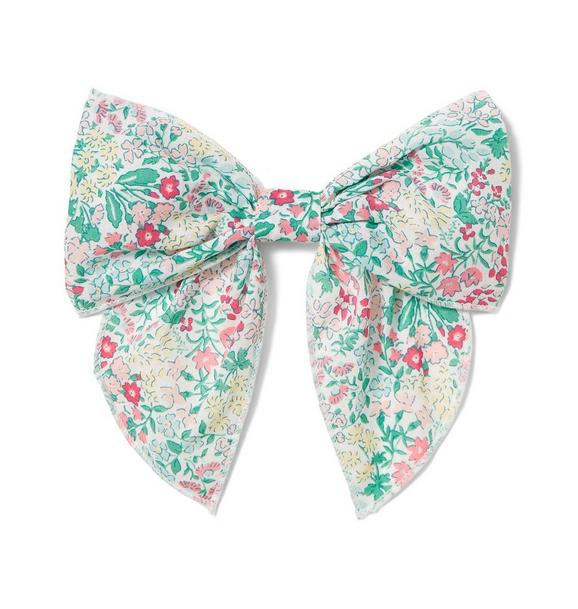 Mini Floral Bow Barrette