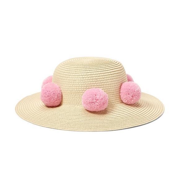 Pom Straw Sun Hat