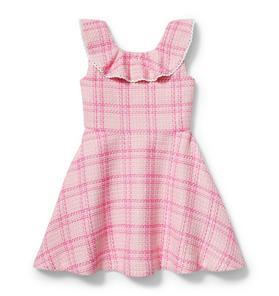Plaid Tweed Dress