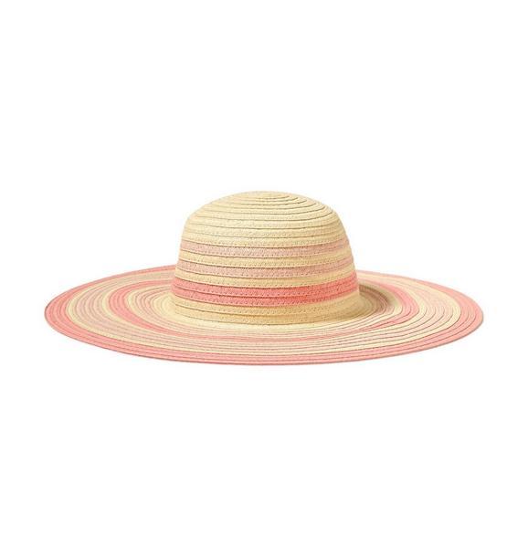 Striped Straw Sun Hat
