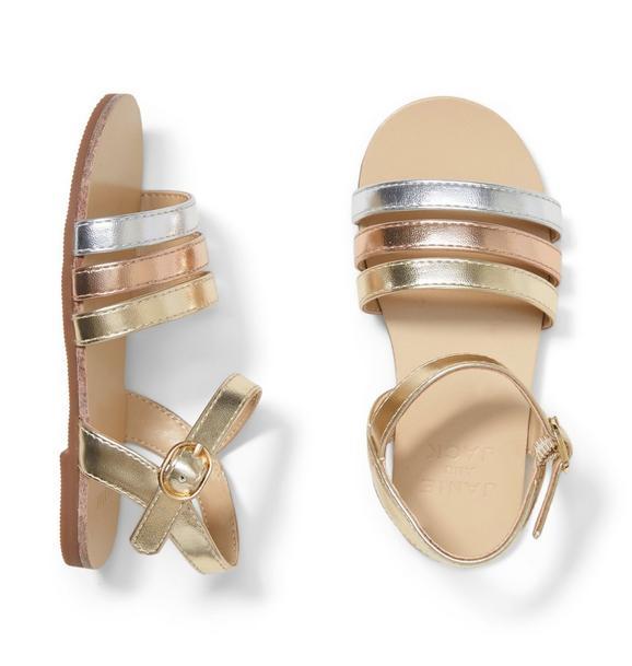 Metallic Strap Sandal