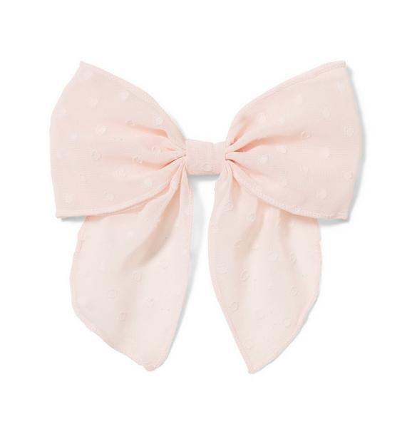 Sheer Dot Bow Barrette
