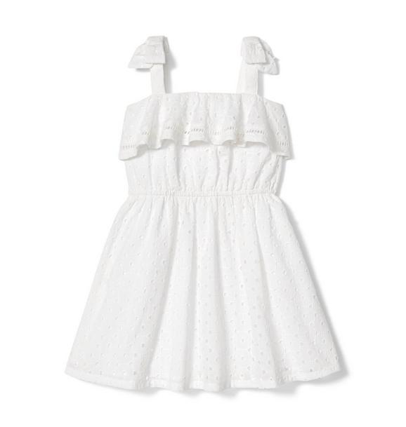 Eyelet Shoulder Bow Dress