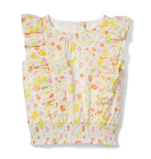 Ditsy Floral Ruffled Top