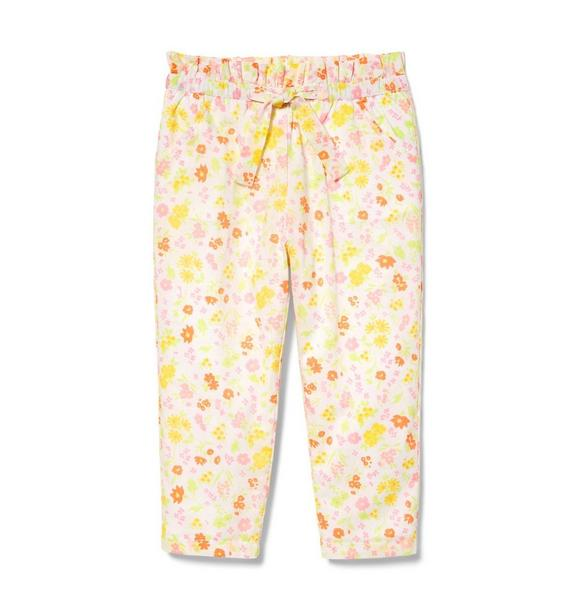 Ditsy Floral Ruffle Waist Pant