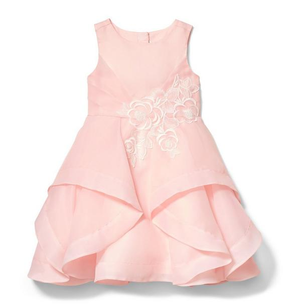 Tiered Ruffle Organza Dress