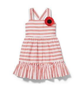 Striped Poppy Dress