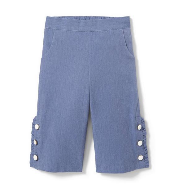 Chambray Cropped Pant