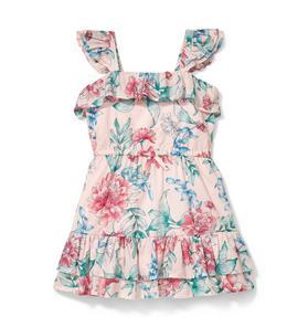 Ruffled Floral Dress