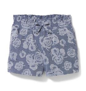 Floral Jacquard Short