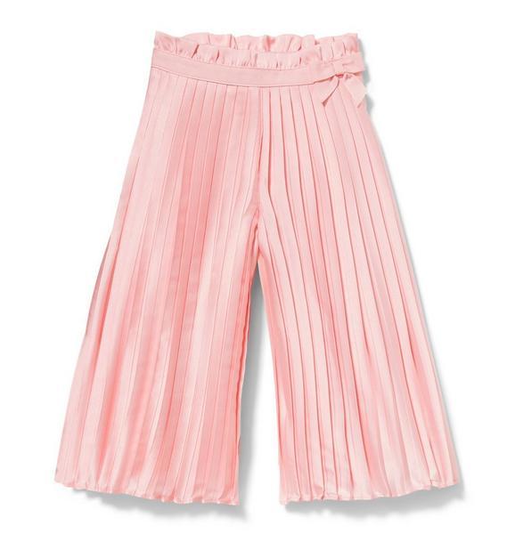 Satin Wide-Leg Pleated Pant