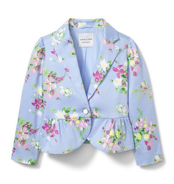 Floral Peplum Blazer