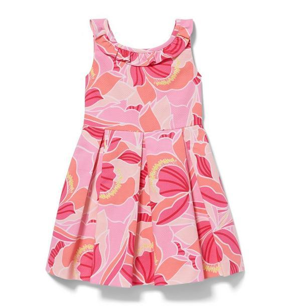 Peony Print Pique Dress