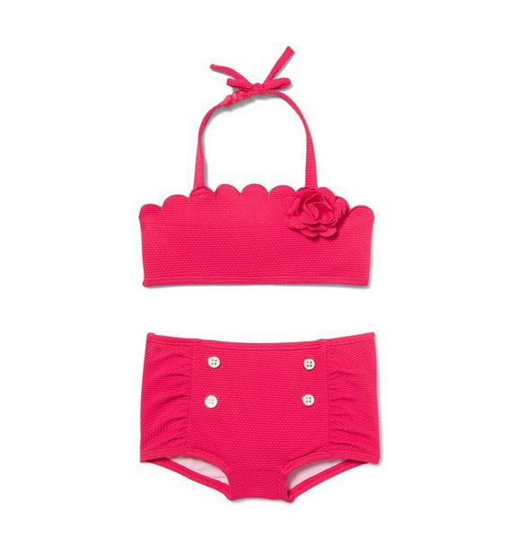 Scalloped 2-Piece Swimsuit