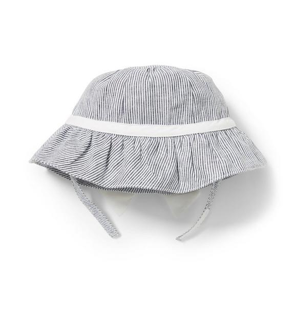 Linen Stripe Bucket Hat