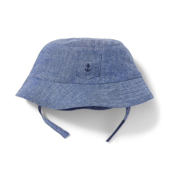 Linen Chambray Bucket Hat