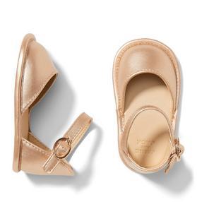 Rose Gold Metallic Crib Sandals