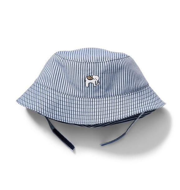 Elephant Striped Bucket Hat