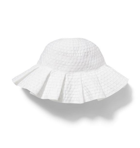 Pleated Ribbon Sun Hat