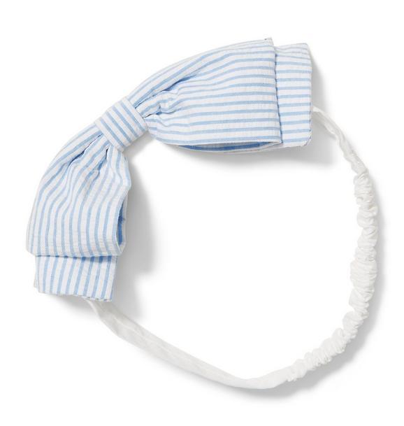 Seersucker Soft Bow Headband
