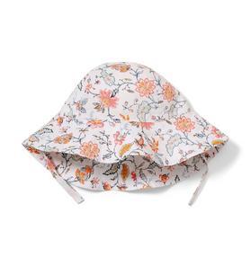Floral Print Sun Hat