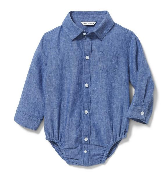 Linen Chambray Bodysuit