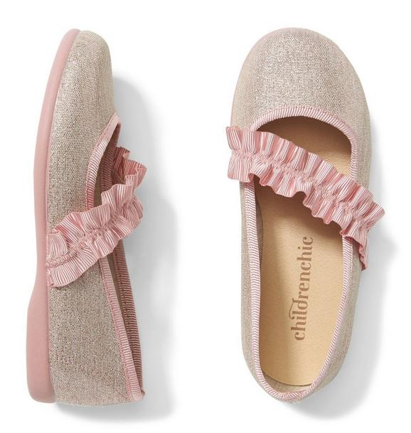 Childrenchic® Ruched Grosgrain Mary Jane Flat