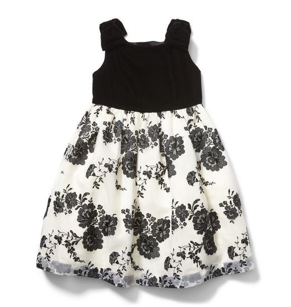 Juno Valentine Velvet Floral Dress