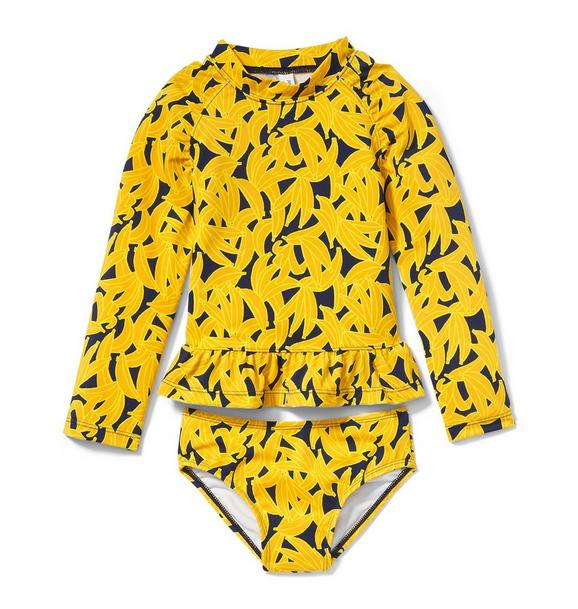 Juno Valentine Banana Rash Guard Set