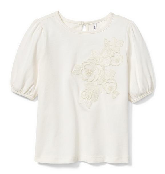 Juno Valentine Floral Appliqué Top