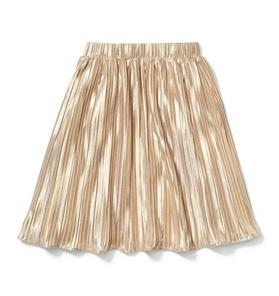 Rachel Zoe Gold Pleated Maxi Skirt