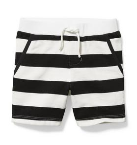 Striped French Terry Short