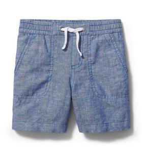 Chambray Linen Pull-On Short