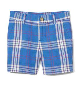Plaid Linen Short