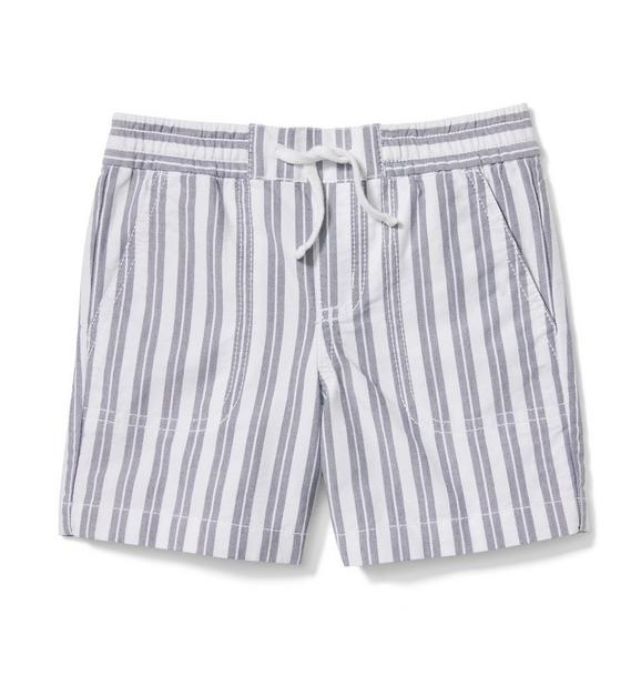 Striped Oxford Pull On Short