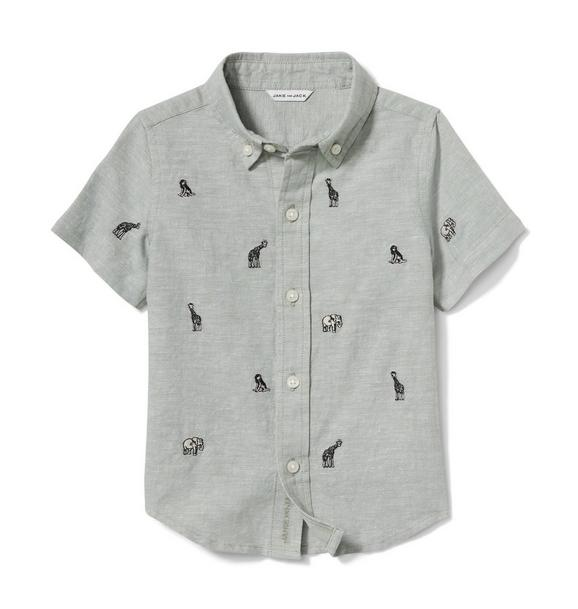 Safari Animal Linen Shirt